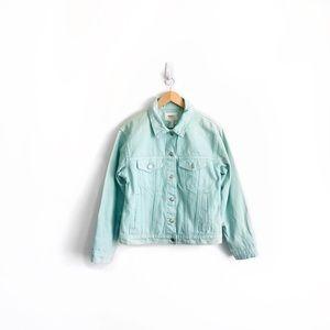 Forever 21 Mint Denim Jacket